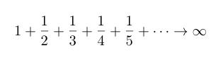 発散する数列の和