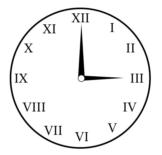 ローマ数字の書かれた時計